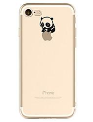 Für iPhone X iPhone 8 iPhone 7 iPhone 6 iPhone 5 Hülle Hüllen Cover Muster Rückseitenabdeckung Hülle Spaß mit dem Apple Logo Panda Weich