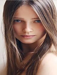 en stock - 8inches perruques avant de dentelle perruques perruques droites brazilian humains yaki de cheveux pour les femmes