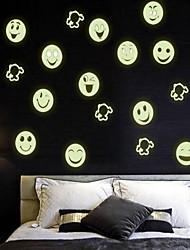 Desenho Animado Adesivos de Parede Autocolantes de Parede Luminosos Autocolantes de Parede Decorativos,Vinil Material Decoração para casa