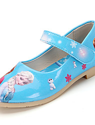 Frozen Sandals Spring Summer Flower Girl Shoes Patent Leather Wedding Party & Evening Casual Low Heel Hook & Loop Blue Pink Light Pink