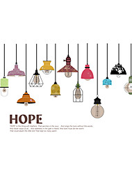 Wall Stickers Wall Decals Style Colorful Chandelier PVC Wall Stickers