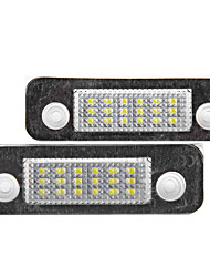 2 X Error Free 18 3528 SMD LED License Plate Light Lamp for Ford Mondeo MK2 Fiesta Fusion