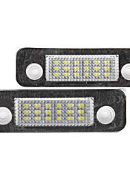 2 х ошибок 18 3528 SMD LED освещения номерного знака Лампа для Ford Mondeo MK2 фиесты фьюжн