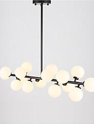 16 Heads Vintage Glass Pendant Lights Metal Dining Room LED Warm White light pendant lights Bar Cafe Clothing Store Light Fixture