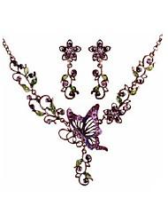 Schmuck 1 Halskette 1 Paar Ohrringe Hochzeit Party Besondere Anlässe Aleación 1 Set Lila Hochzeitsgeschenke