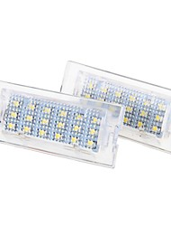2 x White 18 LED Number License Plate Lights Lamp Bulb for BMW E53 X5 1999-2006