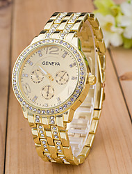 Women's Sport Watch Dress Watch Fashion Watch Wrist watch Simulated Diamond Watch Quartz Imitation Diamond Rhinestone Rose Gold Plated