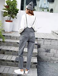registe Primavera versão coreana do vento faculdade tiras finas bonitos grandes macacões bolso denim calça siamese