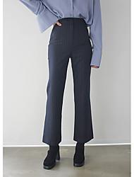 корея покупке сыпучих материалов Значительных долговязый талии брюки костюм Труба значительная Длина ноги брюки женского вертикальная