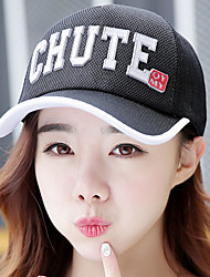 Unisex Girl Net Hat Breathable Summer Sunscreen Casual Letter Printing White Side Baseball Hat
