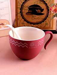 Minimalismo Artigos para Bebida, 220 ml Simples padrão geométrico Cerâmica Café Leite Copos