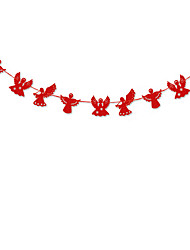 RayLineDo® 1 Piece Red Garland For Wedding Birthday Anniversary Party Christmas Girls Room Decoration Angel Shape