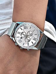 Masculino Unissex Relógio Militar Relógio Elegante Relógio de Moda Relógio de Pulso Quartzo Calendário Punk Mostrador Grande Lega Banda