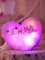 Toys LED Lighting Stress Relievers Stuffed Toys Heart-Shaped Glamorous & Dramatic Cartoon Sweet Special Lovely Fashion Cool Creative