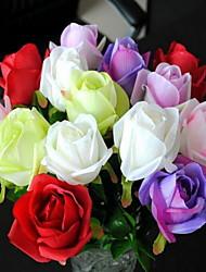 1 Ast Kunststoff Rosen Tisch-Blumen Künstliche Blumen 7*7*45