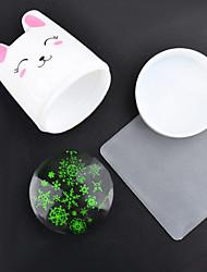 1pc o novo super 'o coelho branco do punho transparente do silicone a ferramenta de vedação