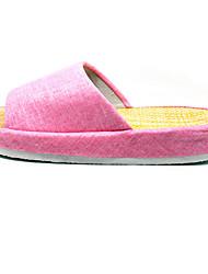 Modern/Contemporary House Slippers Women's Slippers Pink Flat Heel