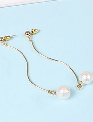 Stud Earrings Imitation Pearl Pearl Imitation Pearl Alloy Simple Style Gold Jewelry Daily Casual 1 pair