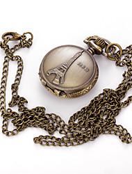 Masculino Mulheres Unissex Relógio de Bolso Colar com Relógio Quartzo Lega Banda Vintage Pendente Casual Cores Múltiplas Bronze