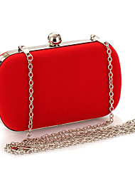 Women Flocking cloth Formal Event/Party Wedding Evening Bag Clutch