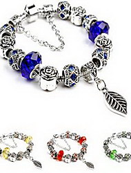 Chain Bracelet Crystal Crystal Simulated Diamond Natural Jewelry Light Yellow Red Green Blue Pink Jewelry 1pc