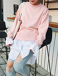 Sign ~ 2016 fall and winter clothes new Korean sweater dress hem stitching shirt fake two-piece