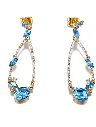 Drop Earrings Crystal Crystal Fashion Dark Blue Jewelry Daily Casual 1 pair
