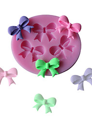 3 Hole Bow Tie Silicone Fondant Mould Cake Decorating Chocolate Baking Mold Sugarcraft Tool