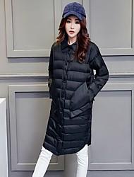 assinar brancos pato para baixo novo comutador magro longo preto feminino literária fina colar quadrado moda outono grandes bolsos sólidos