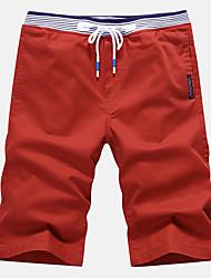 Homme Grandes Tailles Mince Chino Short Pantalon,Décontracté / Quotidien Plage Sportif simple Street Chic Actif Couleur PleineTaille