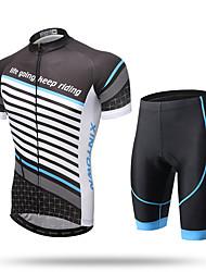 XINTOWN Maillot et Cuissard de Cyclisme Homme Femme Unisexe Manches Courtes Vélo Pantalon/Surpantalon Maillot Cuissard  / Short Hauts/Tops