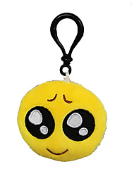 Key Chain Novelty Toy / With Keychain Circular Plush Yellow For Boys / For Girl