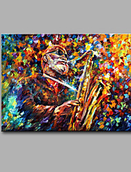 Hand-Painted Abstract Blow Sachs Man Modern Classic One Panel Canvas Oil Painting For Home Decoration