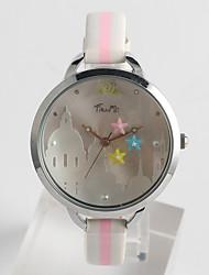 Fashion Watch Quartz / PU Band Casual Black White Blue Brand