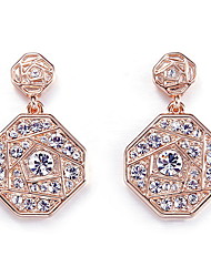 Drop Earrings Crystal Crystal Simulated Diamond Fashion As Picture Jewelry Daily Casual 1 pair