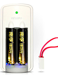 Nanfu nf-lc1 aa batterie rechargeable lithium 1.5V 750mAh 2 pièces