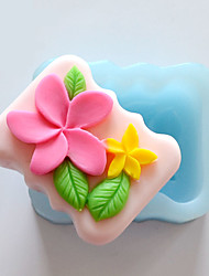 Two Flowers Shape Soap Mold DIY Silicone Soap Mold Handmade Soap Salt Carved DIY Silicone Food Grade Silicone Mold