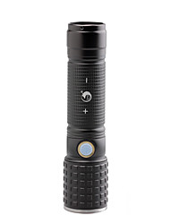 U'King ZQ-X1068B CREE XML T6 2000LM 3Modes White/Round LED Flashlight Torch with USB Charging Cable
