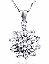 Кулоны Базовый дизайн Цветочный дизайн Стерлинговое серебро