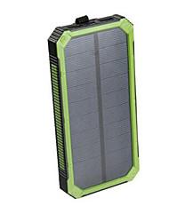 16000mAhbanco do poder de bateria externa Recarga com Energia Solar Output Múltiplo Impermeável Antichoque Lanterna 16000 2000Recarga com