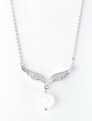 Pendant Necklaces Sterling Silver Zircon Cubic Zirconia Basic Silver Red Jewelry Daily Casual 1pc