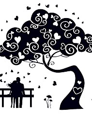 Couples Lovers Luminous Wall Stickers PVC Glow In the Dark Tree Flower Love Wall Decals For Family Love Home Decor