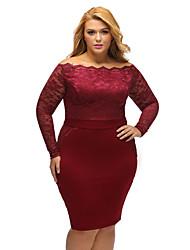 Women's Off Shoulder Plus Lace Dress