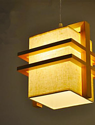 Pendant Light ,  Modern/Contemporary Wood Feature for LED Wood/Bamboo Bedroom Dining Room Kids Room Hallway