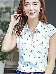 Kurzarm-Shirt weiblicher literarischer kleiner T-Shirt Druck unterzeichnet 2017 Sommer neue koreanische Fane Frauen mit V-Ausschnitt