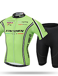 XINTOWN® Men's Short Set New Cycling Jersey Cycling set Short Sleeve Jersey Siut New Bike Bicycle Men's Team Outdoor Green