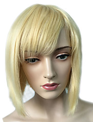 Top Quality Short Bob Wig Synthetic Fiber Wig With Neat Bangs Capless With Wig Cap