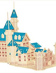 Rompecabezas Puzzles de Madera Bloques de construcción Juguetes de bricolaje Edificio Famoso Arquitectura China Casa 1 Madera Marfil