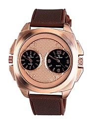 V6 men 's Tape Rose Gold Shell Dual Movement Watch Foreign Sales Hot Models Men' s Leisure Watches