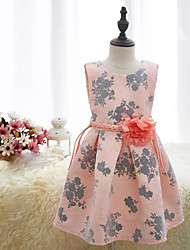 Girl's Floral Dress,Cotton Summer All Seasons Spring Sleeveless